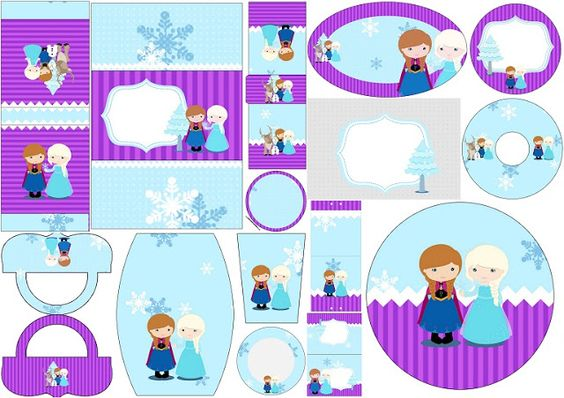 Frozen Niñas en Navidad: Etiquetas Candy Bar para Imprimir Gratis.   Ideas y material gratis para fiestas y celebraciones Oh My Fiesta!