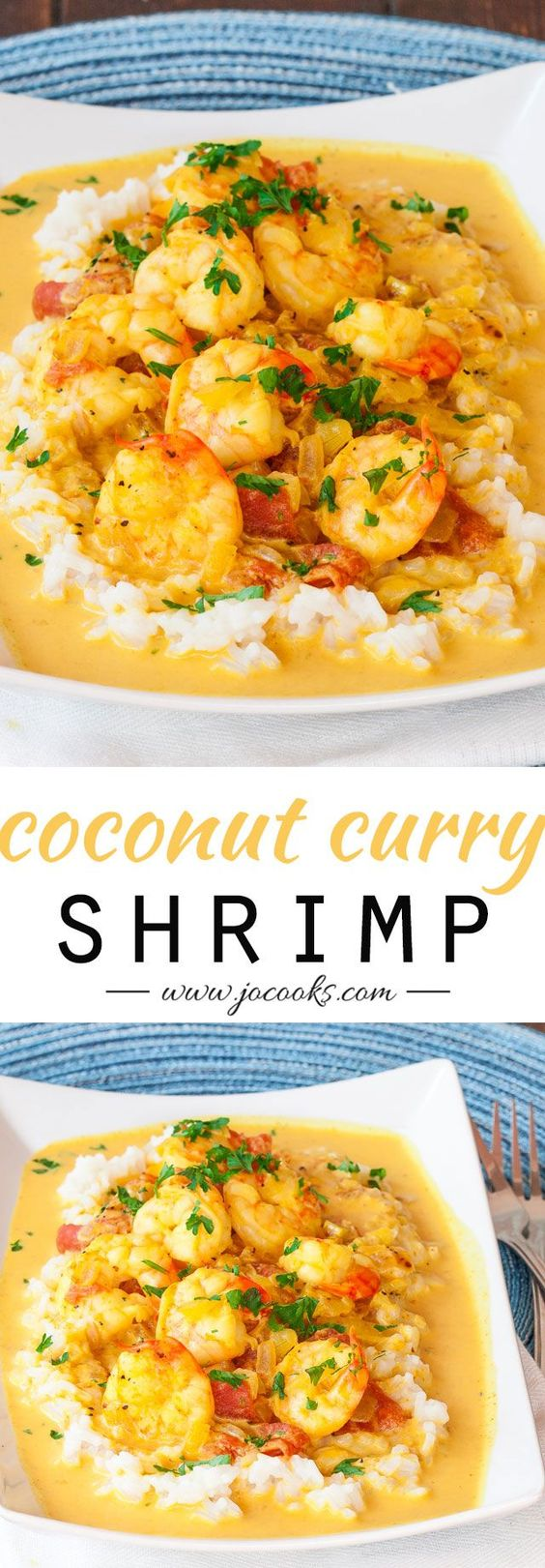 "Coconut Shrimp Curry - Serve with Cauliflower ""Rice"" and coconut oi..."