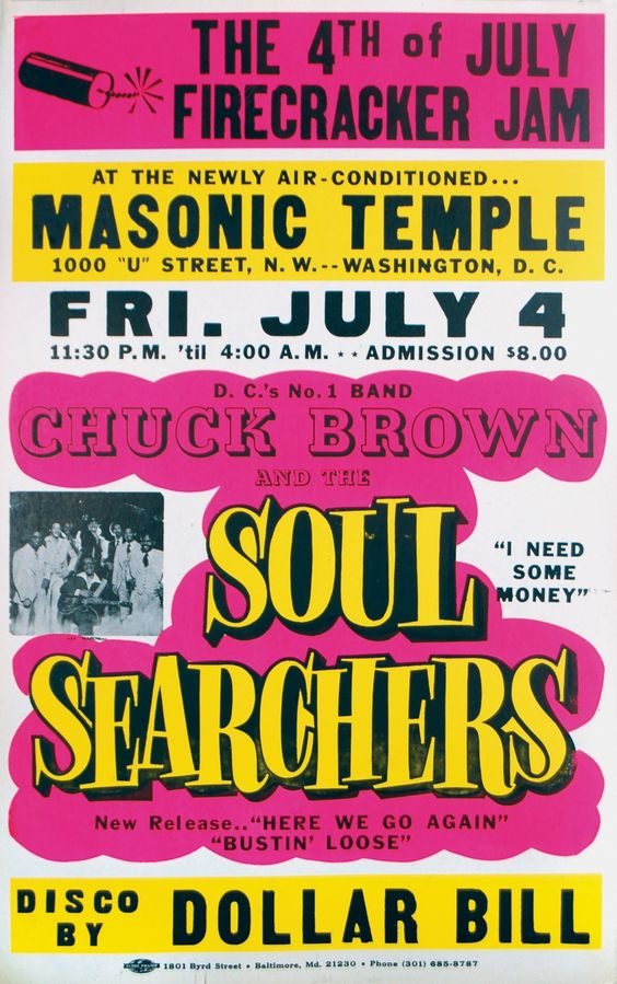 Chuck Brown And The Soul Searchers Chuck Brown Music Concert Posters Vintage Concert Posters