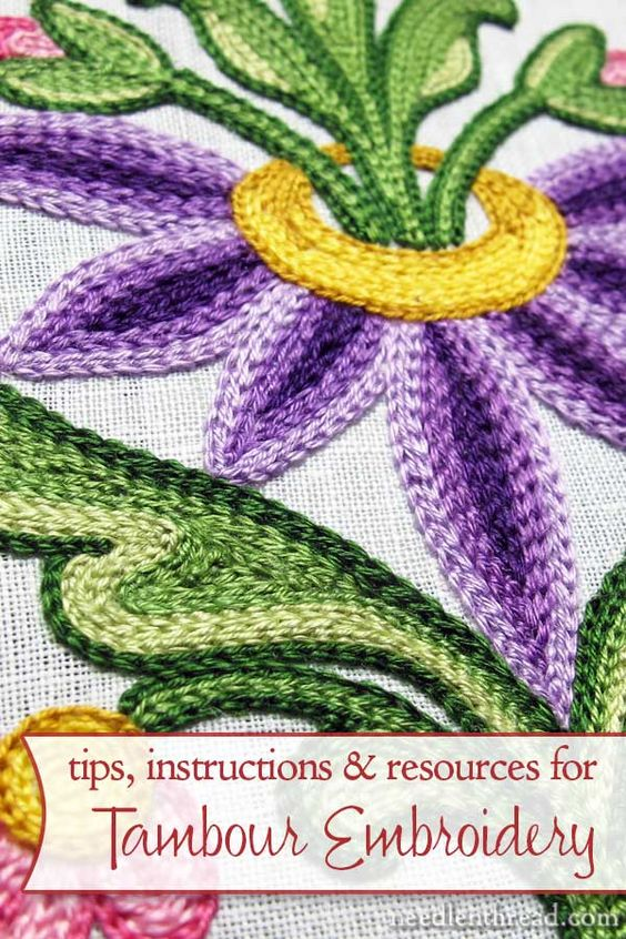 Looking for instructions on tambour embroidery? On Needle 'n Thread, you'll find information on materials, how-to videos, and lots of resources so that you can learn how to do tambour work, too!
