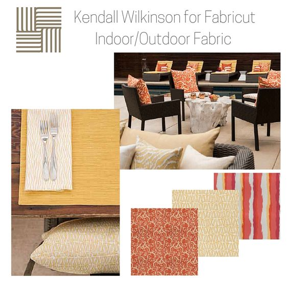 #TextileTuesday KendallWilkinson for Fabric Indoor/Outdoor Fabrics