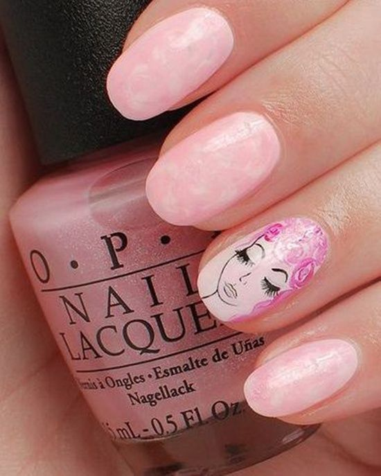 30 Pink Nail Art Designs that you can use during any time of the year. Multiple pinks and pinks solo can create great designs at any time.