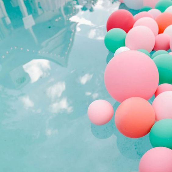 Pool Party / DIY ballons / Décorations ballons / Ballons piscine / Balloons swimming pool