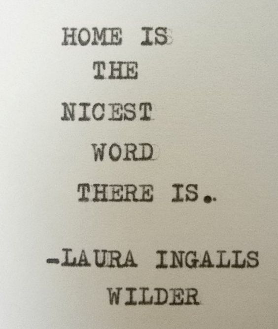LAURA INGALLS WILDER quote home quote by PoetryBoutique on Etsy, $7.00: