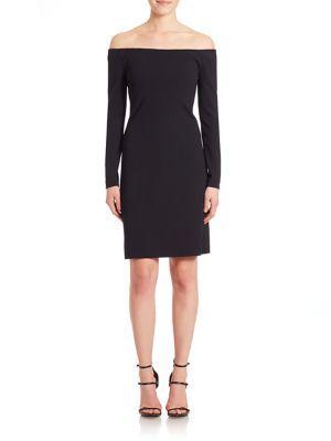 TIBI Crepe Off-The-Shoulder Dress. #tibi #cloth #dress