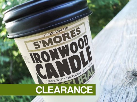 S'Mores Ironwood Soy Candle in Jelly Jar Smores by SamsNatural, $9.95
