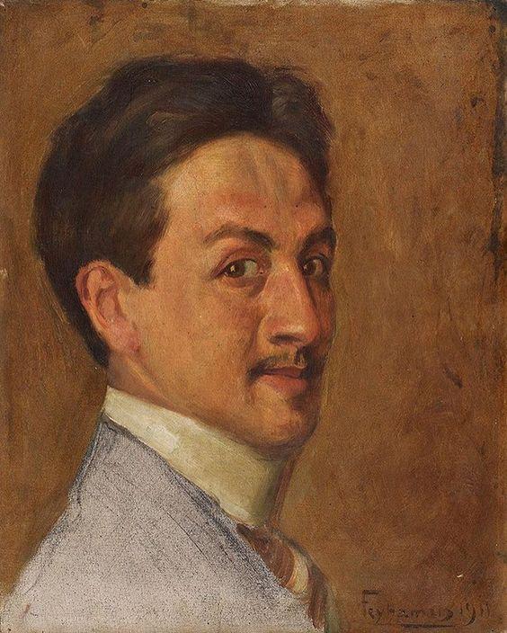Otoportrait Feyhaman Duran   (Calligrapher and painter)  1886-1970 exhibitionSabancı museum 2017 May -------------------------------------------------- Hattat Ressam Feyhaman Duran 1886-1970: