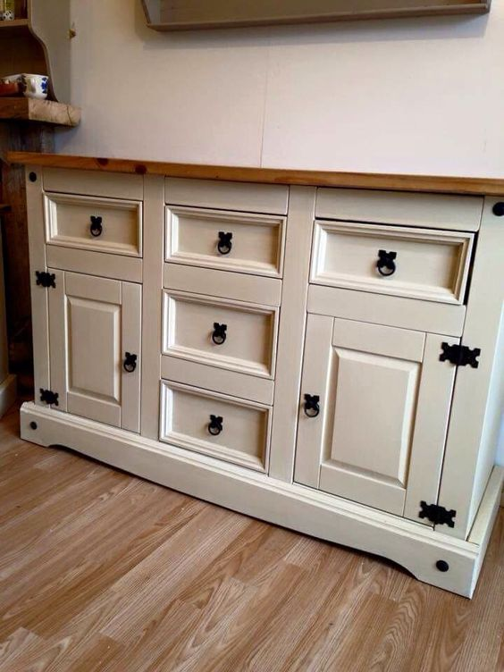 Mexican pine painted sideboard painted using chalk paint my pieces pinterest paint the - Paint wooden dresserwonderful ideas ...
