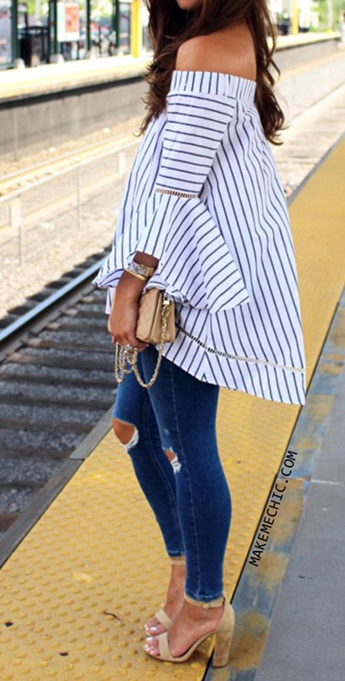 Multicolor Striped Off The Shoulder Bell Sleeve Blouse http://www.makemechic.com/products/Multicolor-Striped-Off-The-Shoulder-Bell-Sleeve-Blouse-18996.html?utm_source=pinterest.com&utm_medium=cpc&utm_compaign=uspinblouse160519511liu20160904&url_from=uspinblouse160519511liu20160904