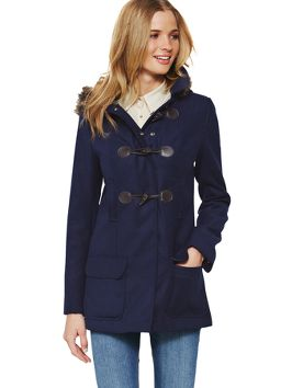 South Hooded Duffle Coat Warm up In Style with http://www.very.co.uk/ #Outerwear #coat #jacket #trend #winter