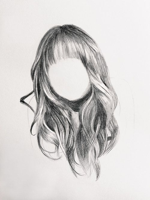 How To Draw Realistic Hair In 8 Steps In 2020 How To Draw Hair Realistic Drawings Realistic Hair Drawing