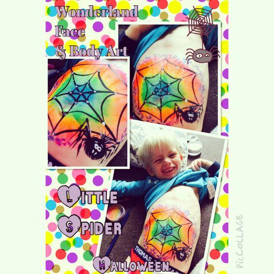 Spider rainbow body paint