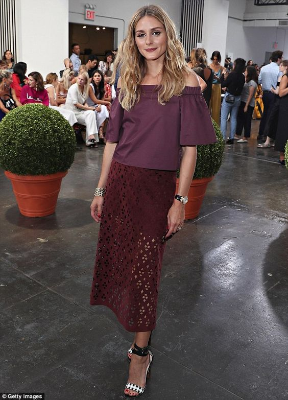 Fall ready! The blonde beauty wore a berry-inspired ensemble, which included an…