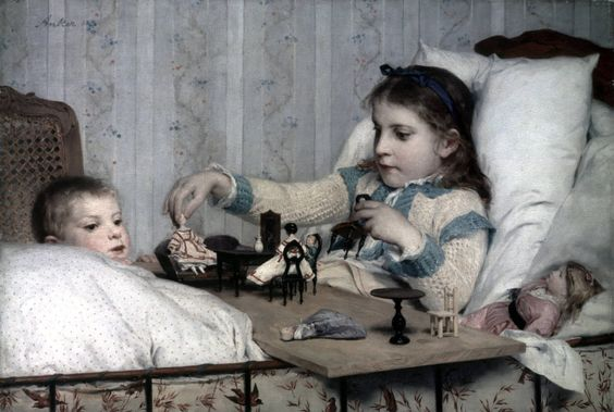 https://flic.kr/p/CcriQ7 | Albert Anker - The small recovering one