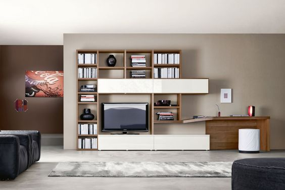 libreria scrivania soggiorno - Cerca con Google  libreria  Pinterest ...