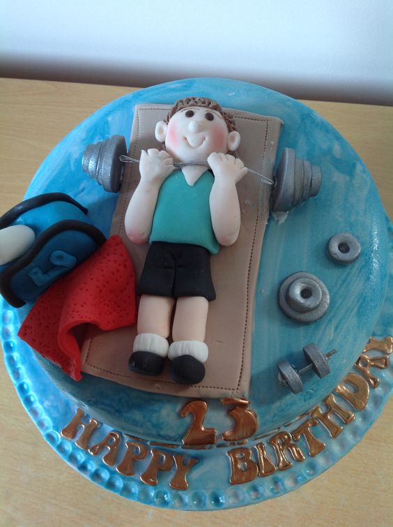 Weightlifter Cake Cakes Deportes Pinterest Cakes