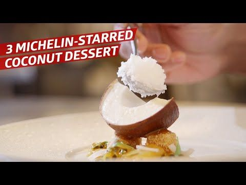 How Le Bernardin S Executive Pastry Chef Turned A Coconut Into An Edible Work Of Art Sugar Coated Youtube Desserts Coconut Desserts Indulgent Food