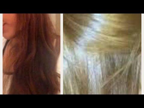 أبهري كل من حولك بلون شعر أشقر ذهبي رائع بمواد طبيعية Youtube