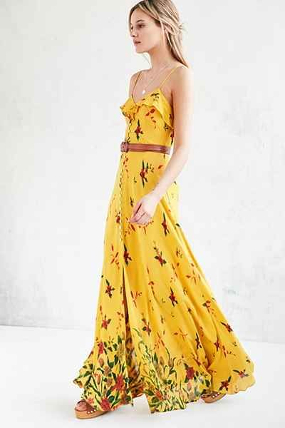 yellow dress urban outfitters hite plains