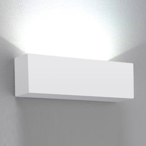 Modern Square Ceramic Uplighter Wall Lamp in a White Finish MiniSun http://www.amazon.co.uk/dp ...