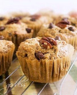Dark Chocolate Chip & Pecan Quinoa Muffins | #glutenfree #dairyfree