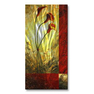 All My Walls 'Lilly Trio' by Megan Duncanson Painting Print Plaque