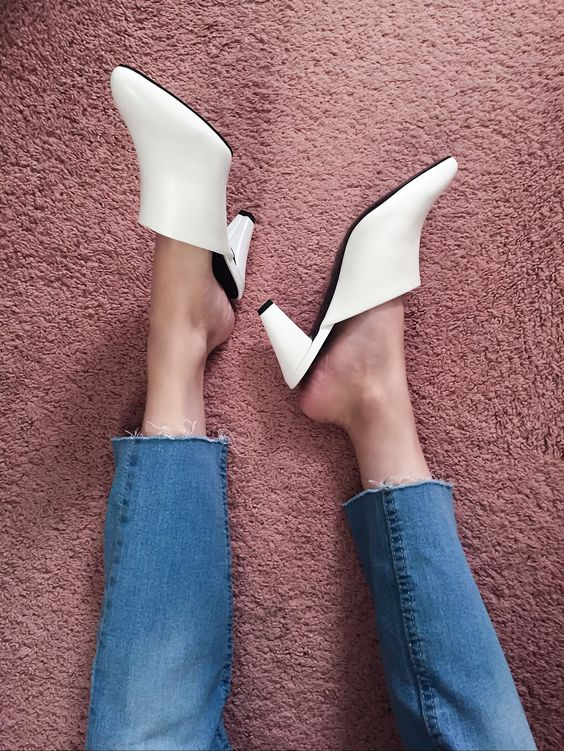 Current Obsession: White Mules