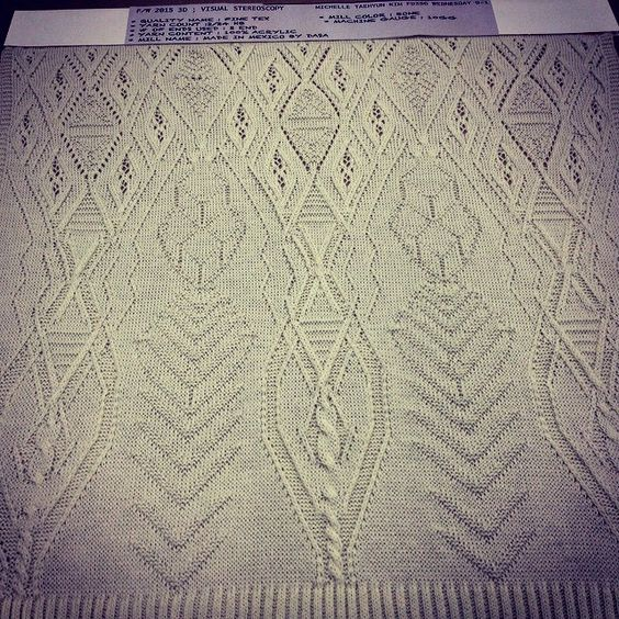 Michelle (TAEHYUN) KIM's Stoll swatch for project 1. #linearstitchdesign #stoll #knit knitgrandeur's photo on Instagram