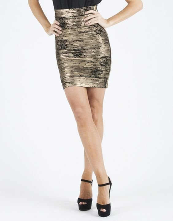 BARIANO - Metallic Bandage Skirt *50% OFF* - BELLA ANGEL boutique