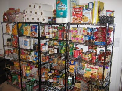 This blog post discusses and lists what items to have stored in a 3 month food storage for a small family.