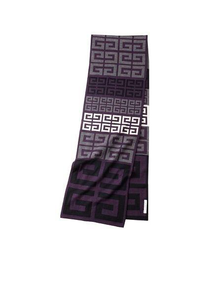 Givenchy Unisex Knit Logo Scarf, Purple/Grey, http://www.myhabit.com/ref=cm_sw_r_pi_mh_i?hash=page%3Dd%26dept%3Ddesigner%26sale%3DA18RTDAHHRZZIL%26asin%3DB008FQM0F4%26cAsin%3DB008FQM0F4