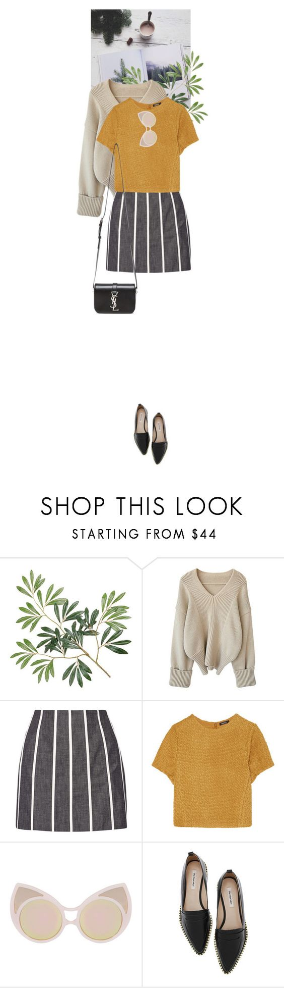 """""""About You"""" by dancingwithyou ❤ liked on Polyvore featuring dVb Victoria Beckham, Raoul, Linda Farrow and Yves Saint Laurent"""