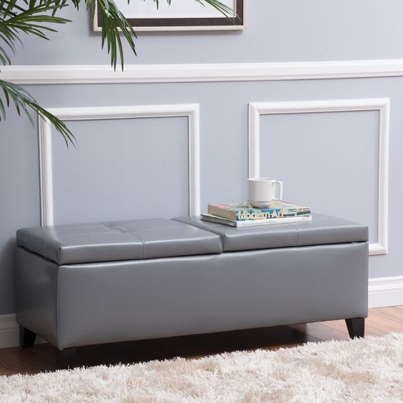 Christopher Knight Home Alfred Small Storage Ottoman Bench
