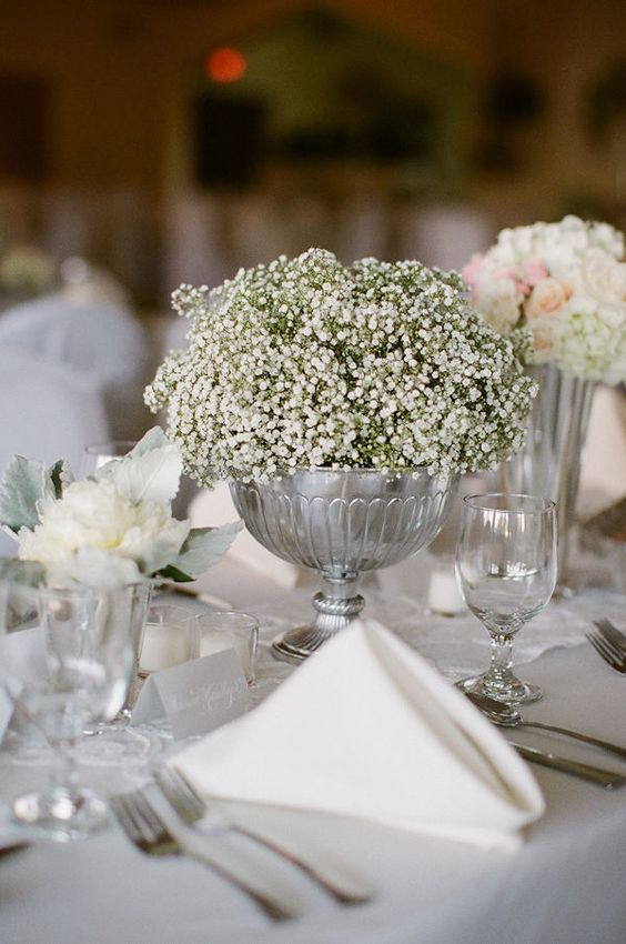 Babies breath centerpieces and on pinterest