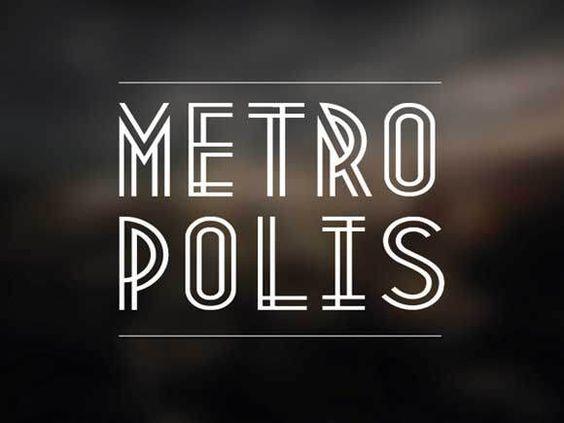 Free fonts Metropolis