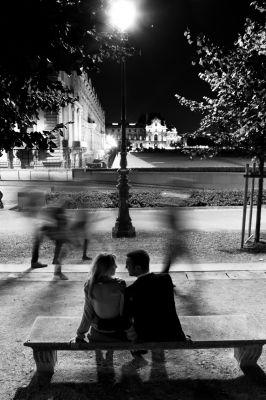 Pluie paix and public on pinterest - Photo romantique noir et blanc ...
