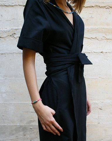 Robe noire et kimono