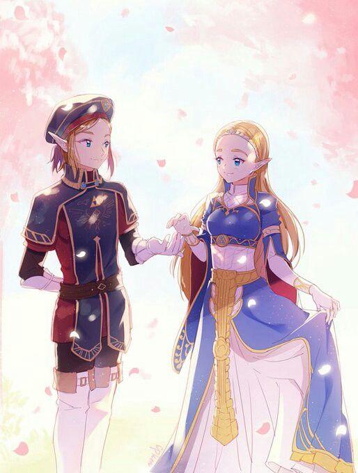 Link And Zelda Legend Of Zelda Legend Of Zelda Breath Anime