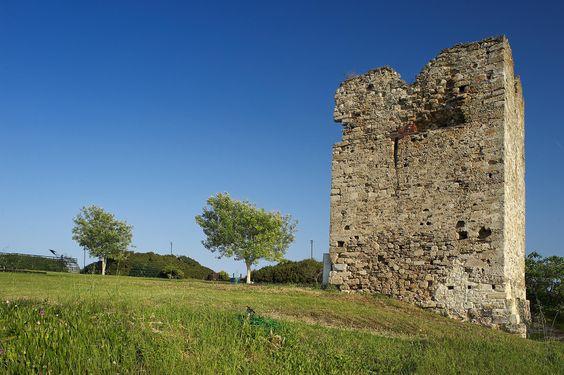 Stavronikita Tower in Sani, Halkidiki, Greece