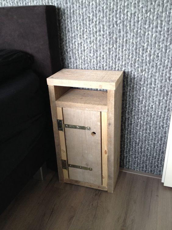 DIY nachtkastje steigerhout