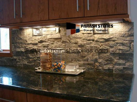 stone backsplash kitchen | Natural Stone Backsplash |Kitchen Backsplash | Splashback