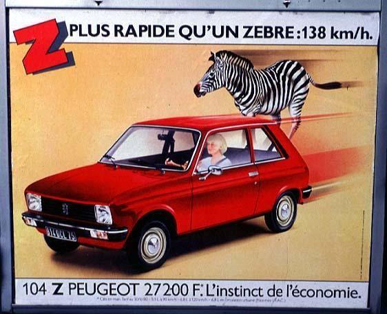 """104 Z #Peugeot """"Z Plus Rapide"""" #Promoción #Cartel"""