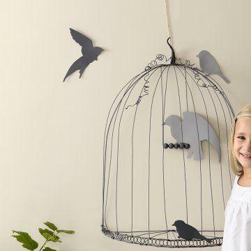 Une cage à oiseaux décorative en fil de fer - Marie Claire Idées