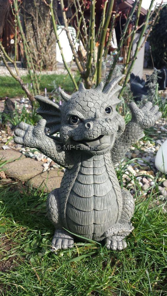 Gartendrache Hallo Drache Drachen Garten Gartenfigur Deko Figur Gargoyle Garten Terrasse Dekoration Gartenfiguren Skul Mit Bildern Gartenfiguren Skulpturen Deko