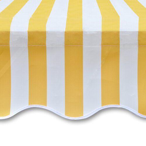 Ebay Sponsored Vidaxl Markisenstoff Sonnenschutz Markisentuch Gelb Wei 63 M Ohne Rahmen Stoff Stoffe Baumwolle Jer In 2020 Patio Awning Shade Cover Patio Sun Shades