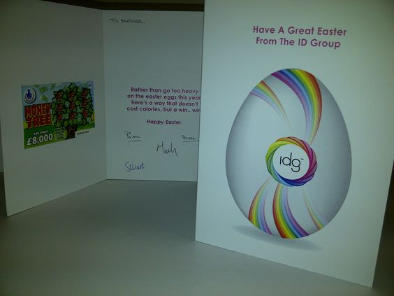 Keeping in touch with clients is important. IDGroup used scratch cards to keep them in their good book for Easter!