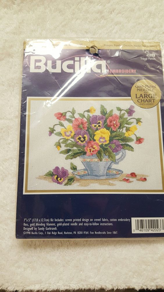 Bucilla Embroidery Kit by yourgalfridayfl on Etsy