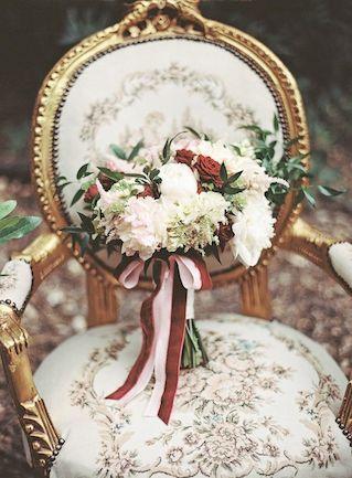 Crimson bridal bouquet