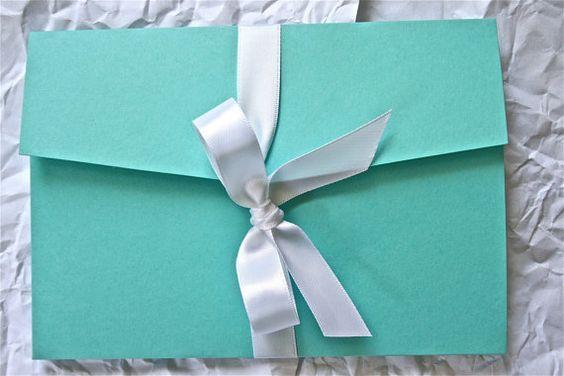 Breakfast At Tiffany's Wedding Invitation...Look inside!   Keywords: #tiffanyswedding #jevelweddingplanning Follow Us: www.jevelweddingplanning.com  www.facebook.com/jevelweddingplanning/