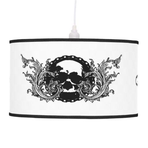 Tattoo Skull Gothic Home Pendant Lamp
